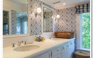 Bathroom Wallpaper Blue 11 Arrangement