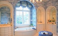 Bathroom Wallpaper Blue 19 Decoration Idea