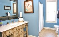 Bathroom Wallpaper Blue 28 Ideas