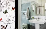Bathroom Wallpaper Blue 9 Ideas