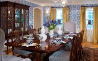 Blue Dining Room Wallpaper  11 Decoration Inspiration