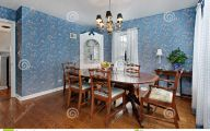 Blue Dining Room Wallpaper  33 Decoration Idea