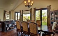 Country Dining Room Wallpaper  4 Architecture