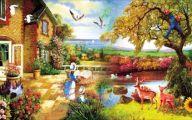 Country Living Room Wallpaper 3 Decor Ideas