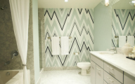 Easy Bathroom Wallpaper 1 Design Ideas