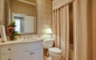 Elegant Bathroom Wallpaper 10 Ideas