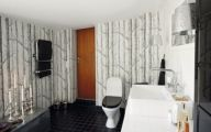Elegant Bathroom Wallpaper 15 Architecture