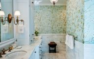 Elegant Bathroom Wallpaper 20 Decor Ideas