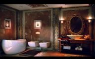 Exotic Bathroom Wallpaper 10 Picture