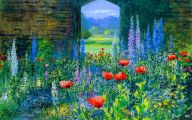 Summer Garden Wallpaper 18 Decoration Inspiration
