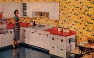 Kitchen Wallpaper Retro  13 Design Ideas