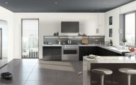 Modern Kitchen Black And White  1 Inspiration