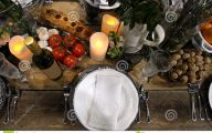 Fine Dining Table Arrangement  34 Arrangement