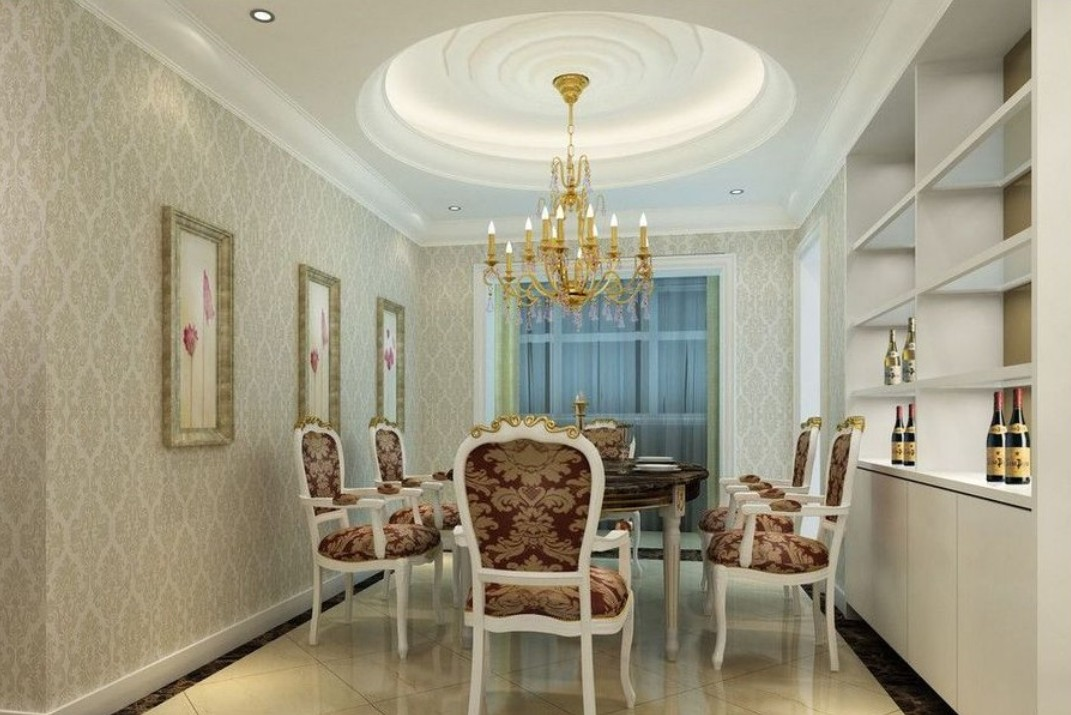 Beautiful dining room wallpaper 24 design ideas for Beautiful dining room decorating ideas