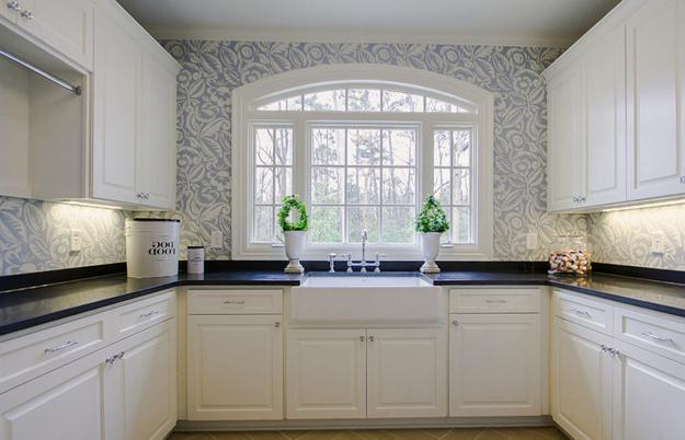 Beautiful kitchen wallpaper 4 picture for Country kitchen wallpaper ideas