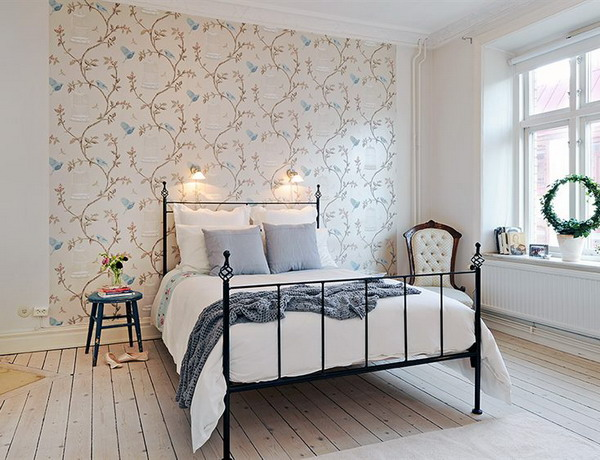 Superbe Bedroom Wallpaper Accent Wall Renovating Ideas