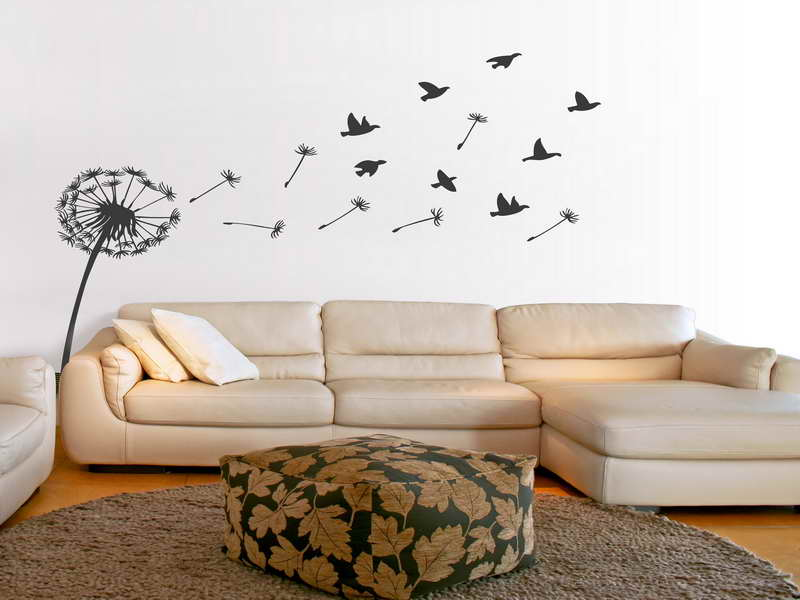 Bedroom Wallpaper Birds Decorating Ideas