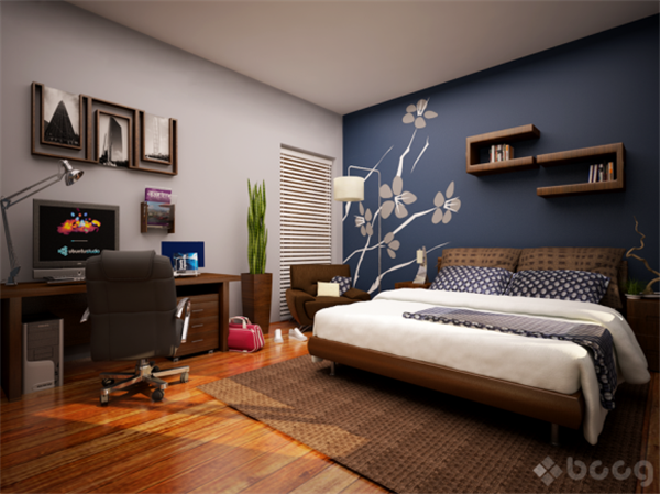 Bedroom Wallpaper Blue Ideas EnhancedHomesorg - Blue bedroom wallpaper ideas
