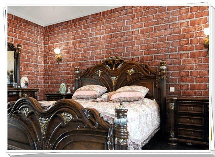 Brick wallpaper bedroom ideas for Red bedroom wallpaper