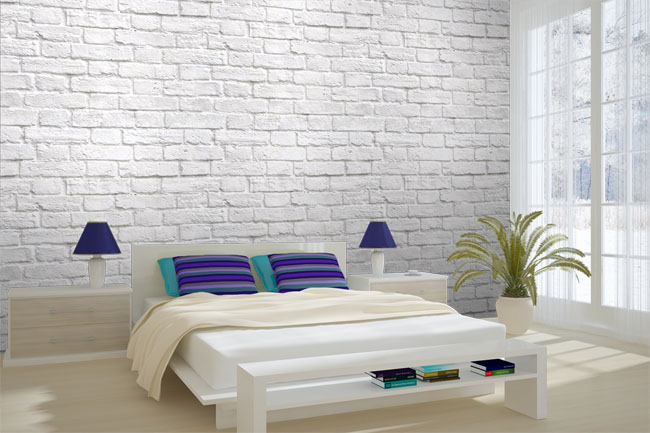 Bedroom wallpaper brick 26 design ideas Brick wall bedroom design