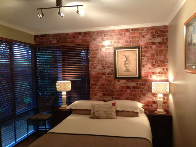 Bedroom Wallpaper Brick Decorating Ideas