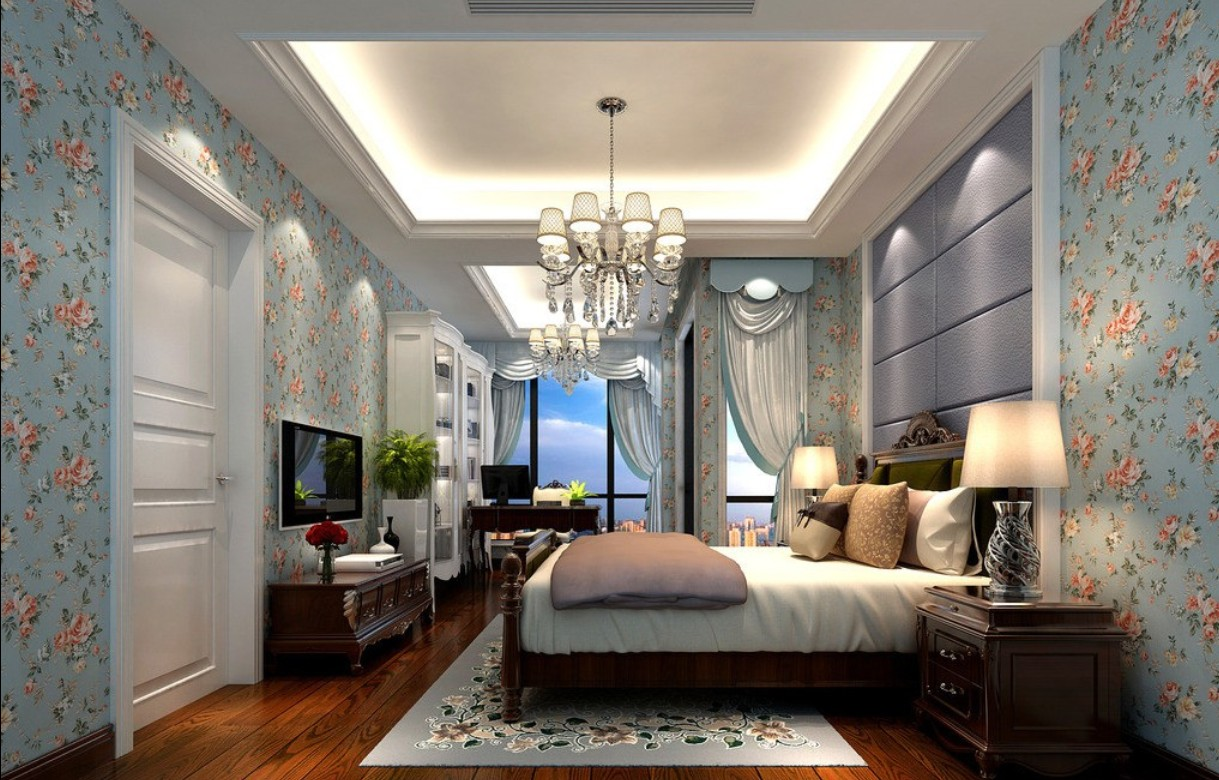 Bedroom wallpaper designs 17 home ideas for Neoclassical bedroom interior design