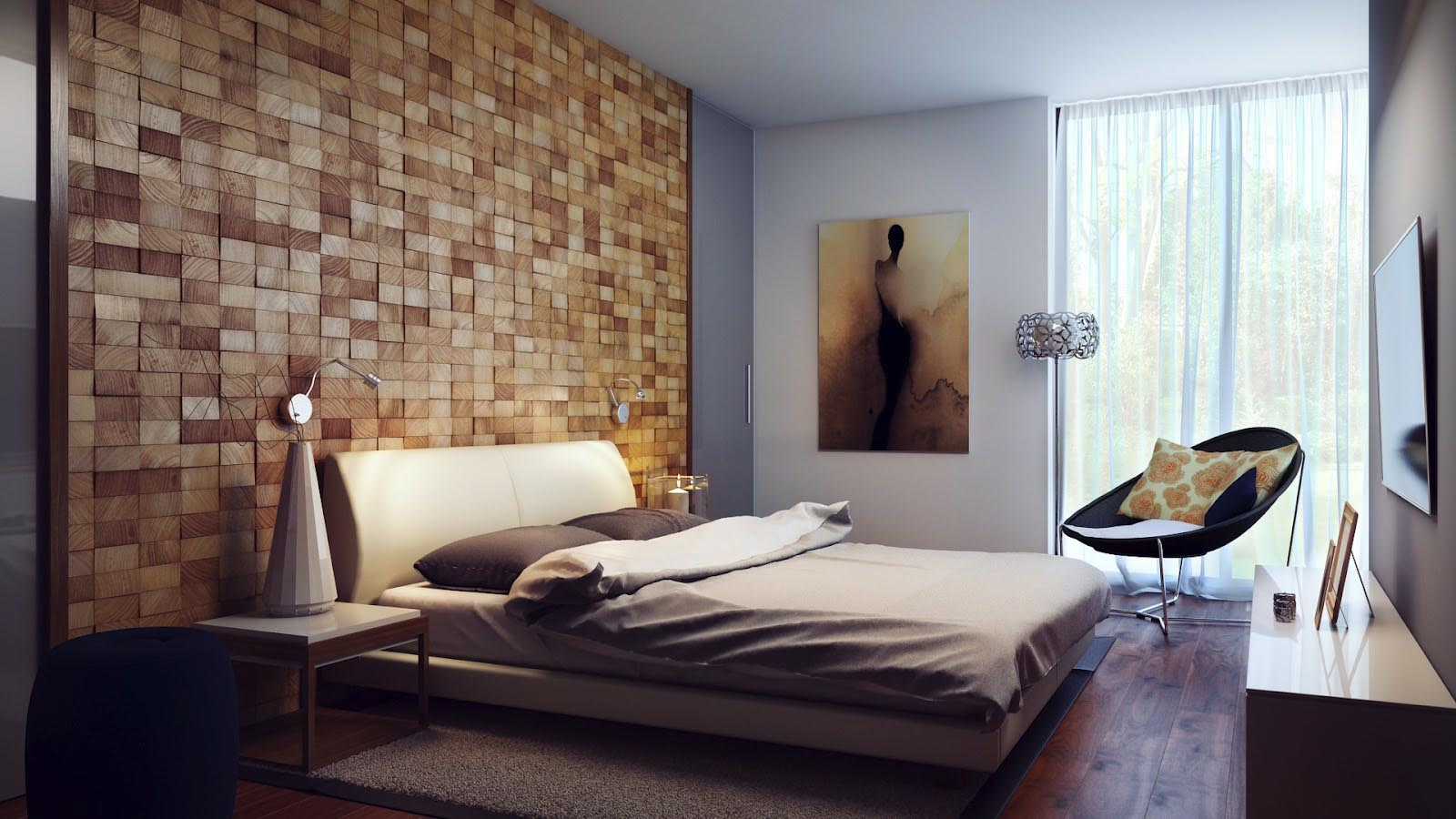 bedroom wallpaper feature wall 2 design ideas - enhancedhomes