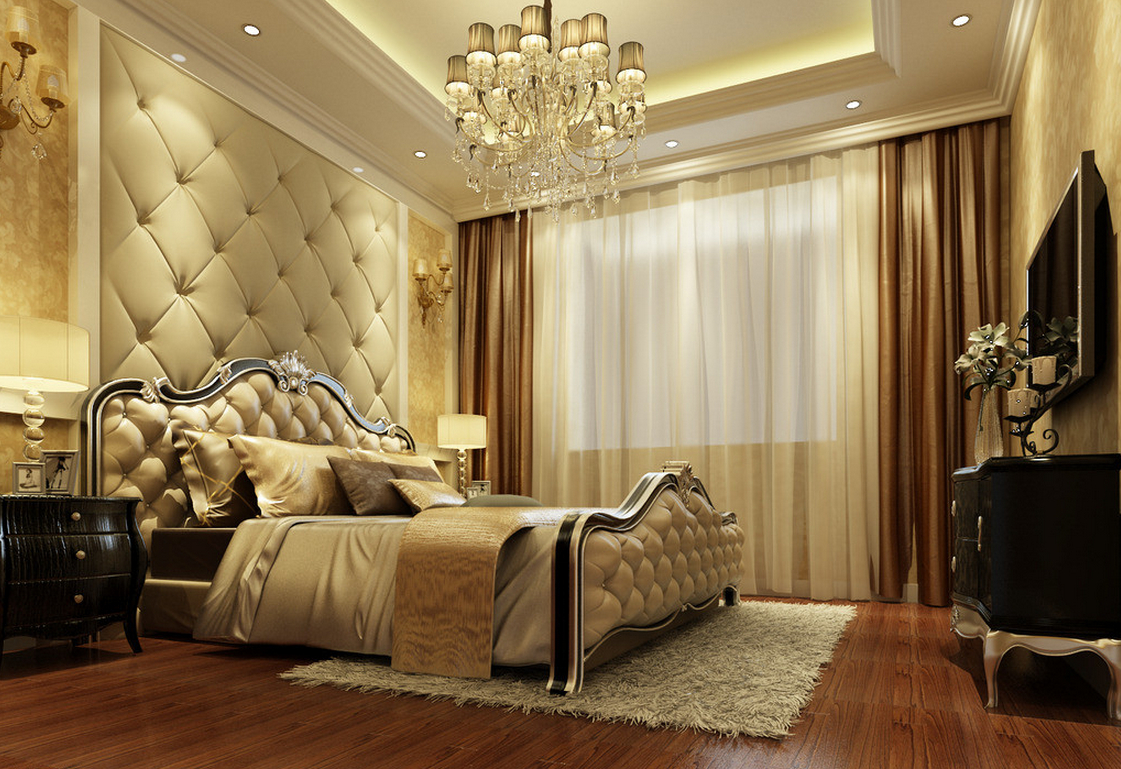 Bedroom wallpaper feature wall 21 renovation ideas for Bedroom wallpaper ideas