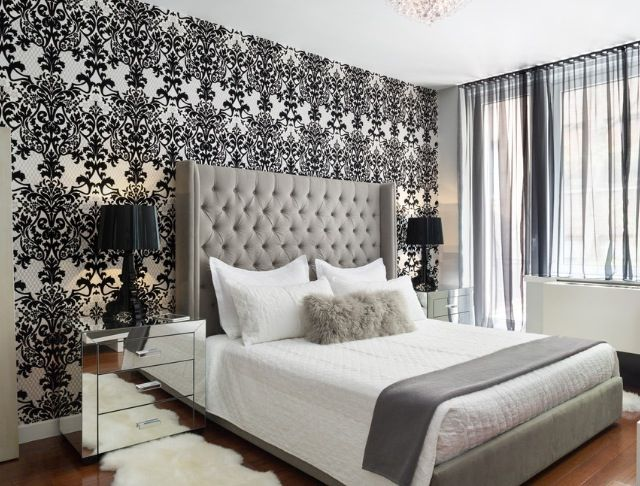 Bedroom Wallpaper Feature Wall 28 Decoration Inspiration