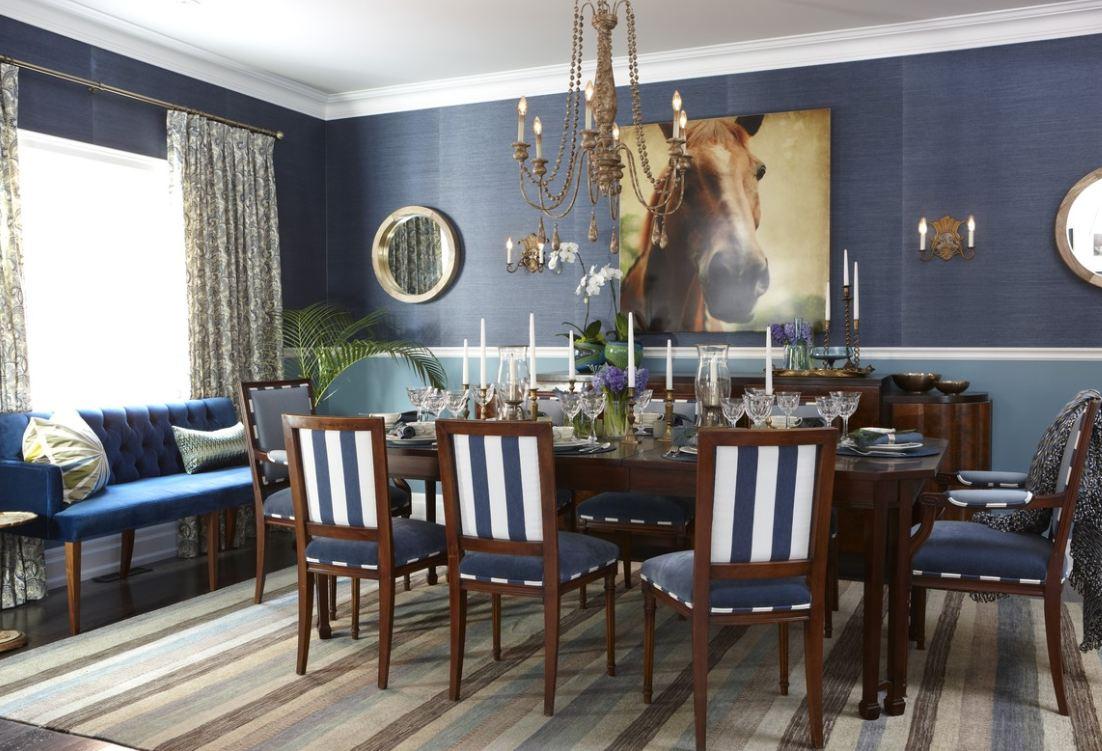 Blue Dining Room Wallpaper 31 Decor Ideas