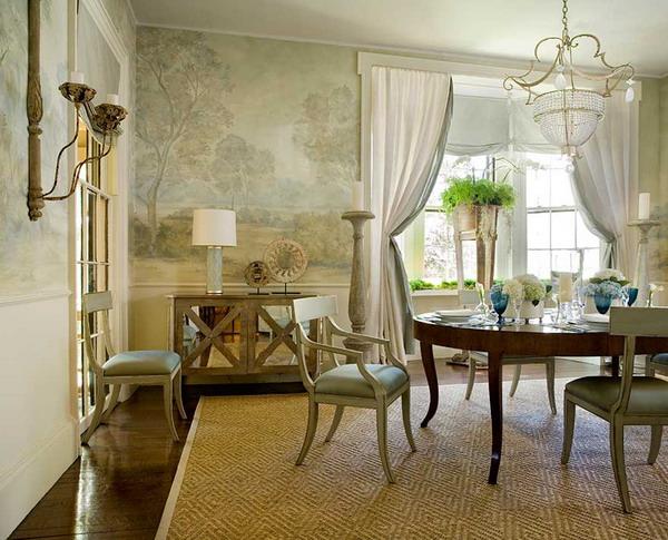 Dining Room Wallpaper Ideas: Classic Dining Room Wallpaper 16 Decor Ideas