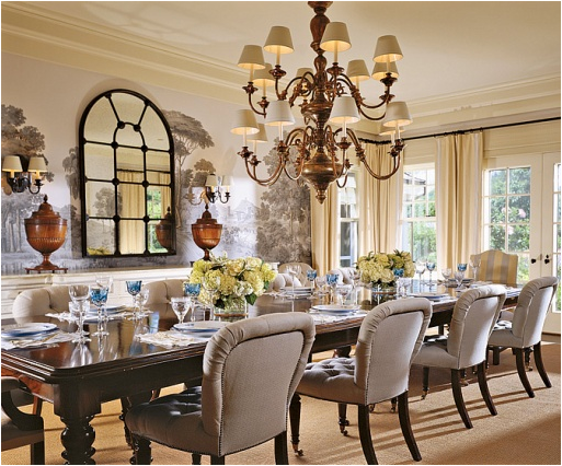 Country dining room wallpaper 2 designs - Wallpaper for dining room ideas ...