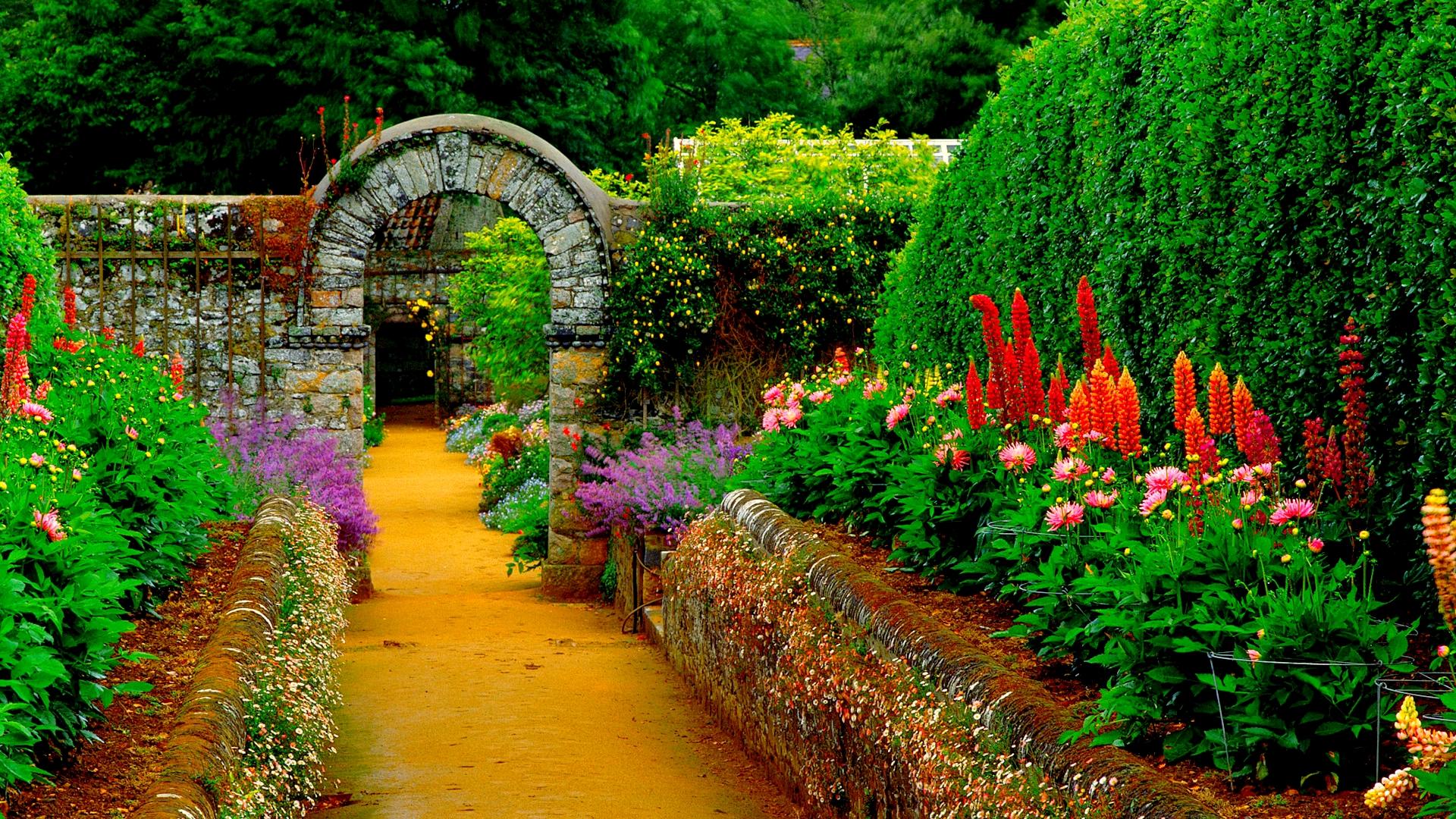 Country gardens wallpaper - Country Garden Wallpaper 1 Design Ideas