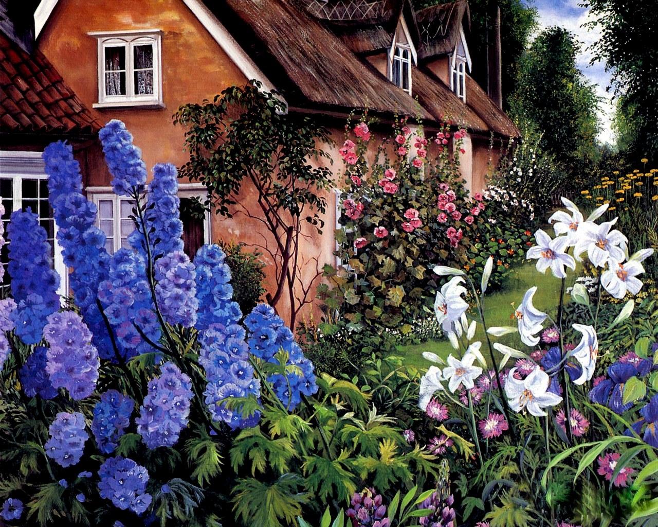 Country gardens wallpaper - Country Garden Wallpaper 2 Home Ideas