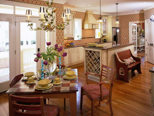 Country kitchen wallpaper designs 19 design ideas for Country kitchen wallpaper ideas