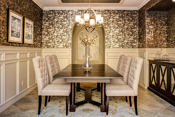 Rooms With Wallpaper Best Dining Room Wallpaper 162 Designs  Enhancedhomes