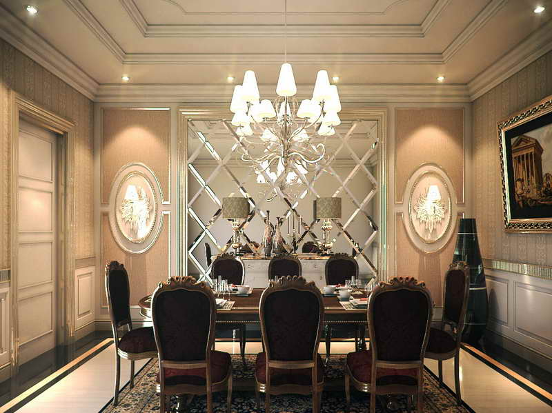 Dining Room Wallpaper Dining Room In Gold Wallpaper From