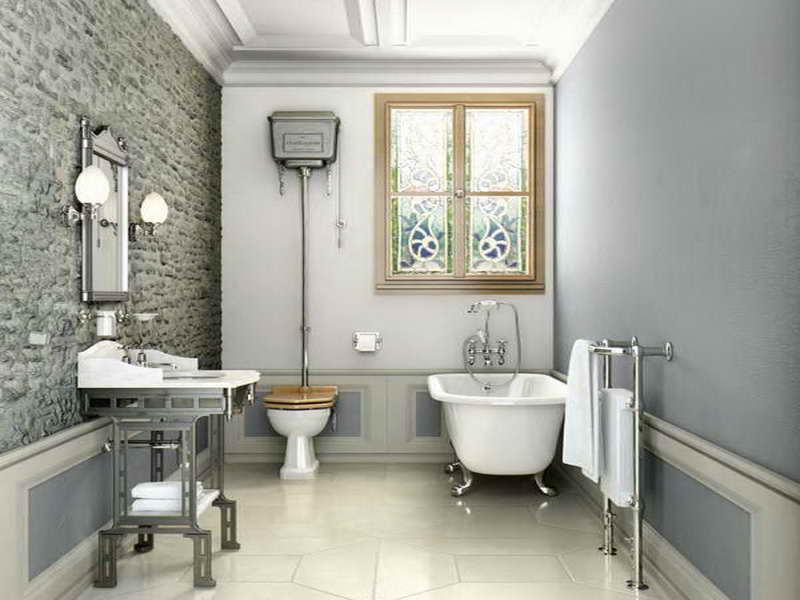 Edwardian Bathroom Wallpaper Renovating Ideas