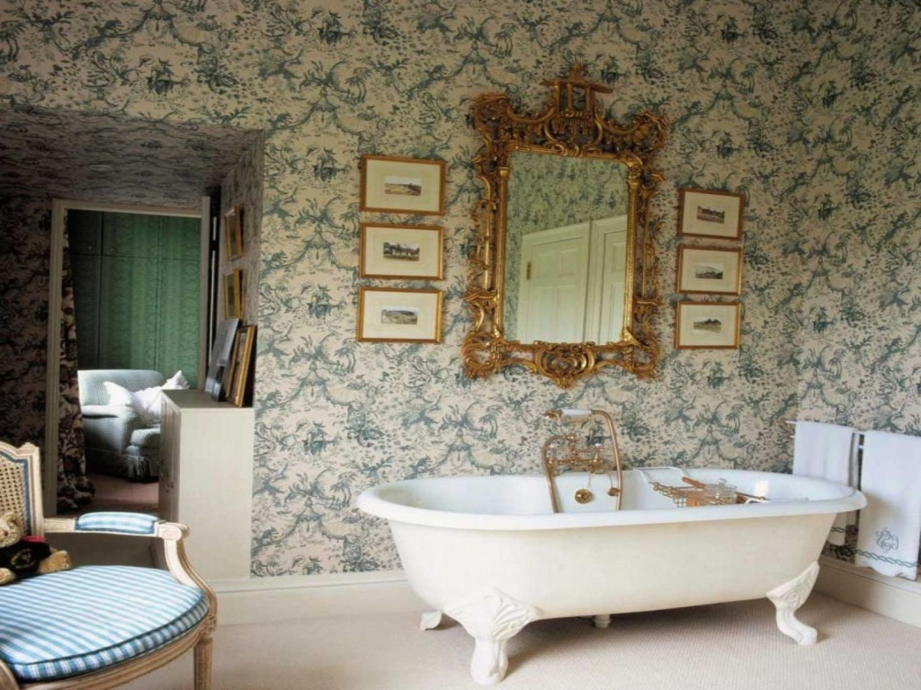 Edwardian bathroom wallpaper 33 home ideas for Bathroom ideas edwardian