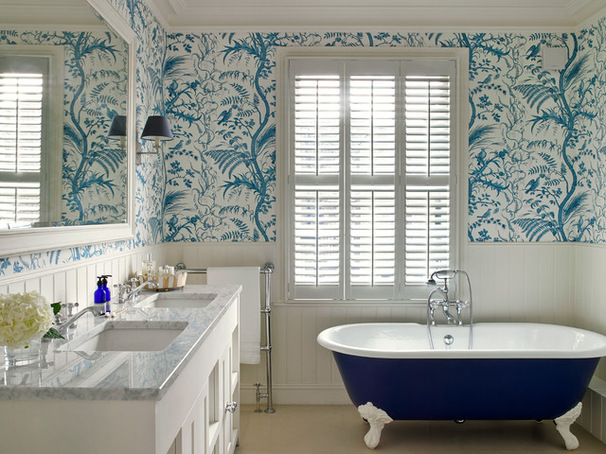 Edwardian bathroom wallpaper 9 ideas for Bathroom ideas edwardian