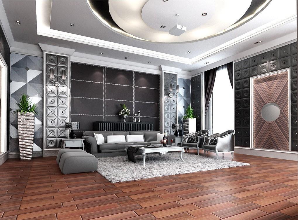 Elegant Living Room Wallpaper Renovating Ideas