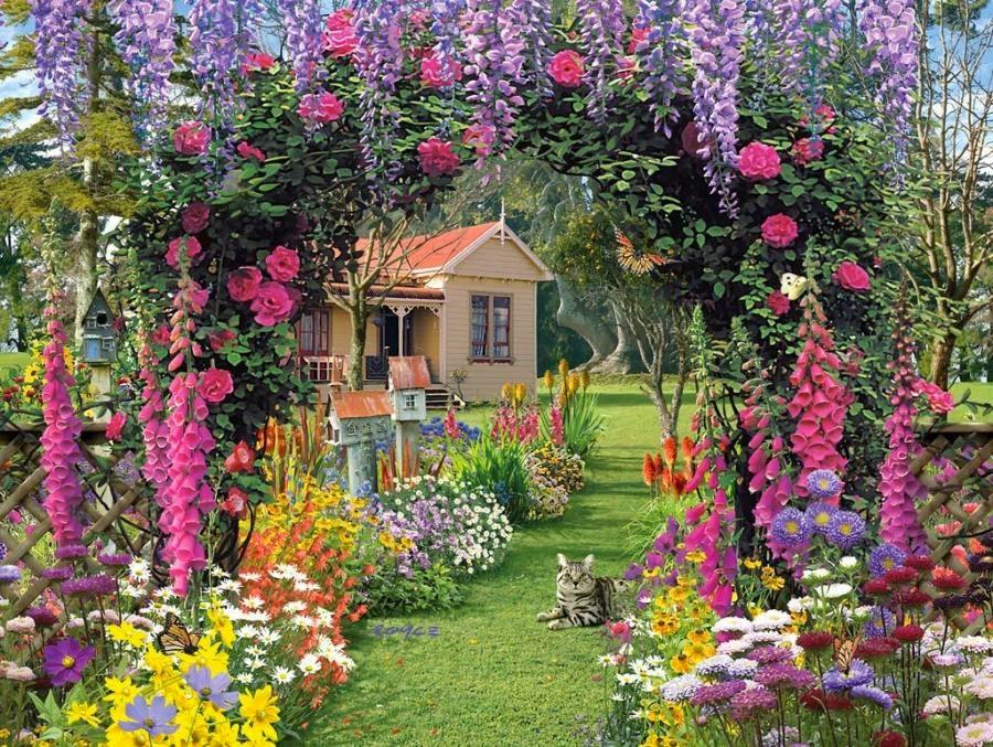 English garden wallpaper 3 decor ideas for English garden wall mural