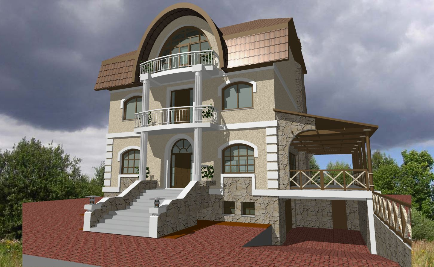 Outer design of home home and landscaping design - House outer design pictures ...