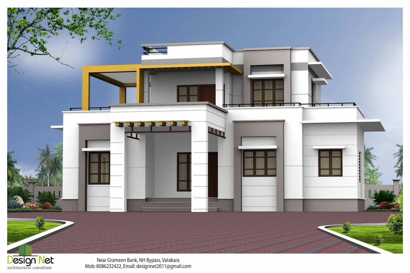 Image gallery outside house designs for Indian home exterior designs