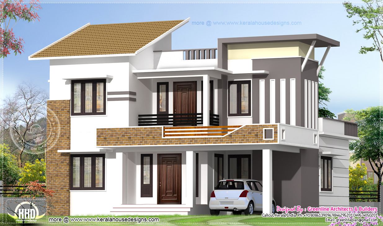 Flat roof one storey modern homes for Modern home plans and designs