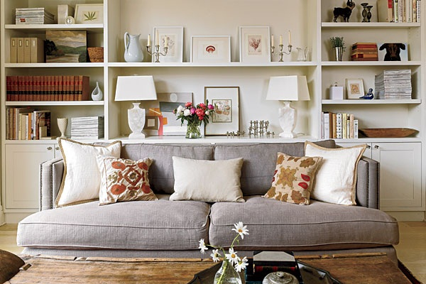 Living Room Bookshelves Remodeling Ideas