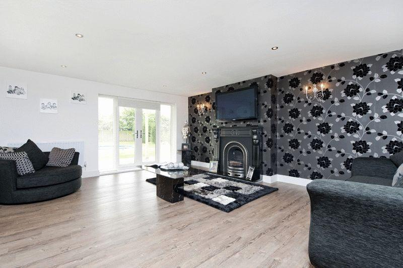Wallpaper Ideas Living Room Designs Black Stain Floating Decorating With On Sich