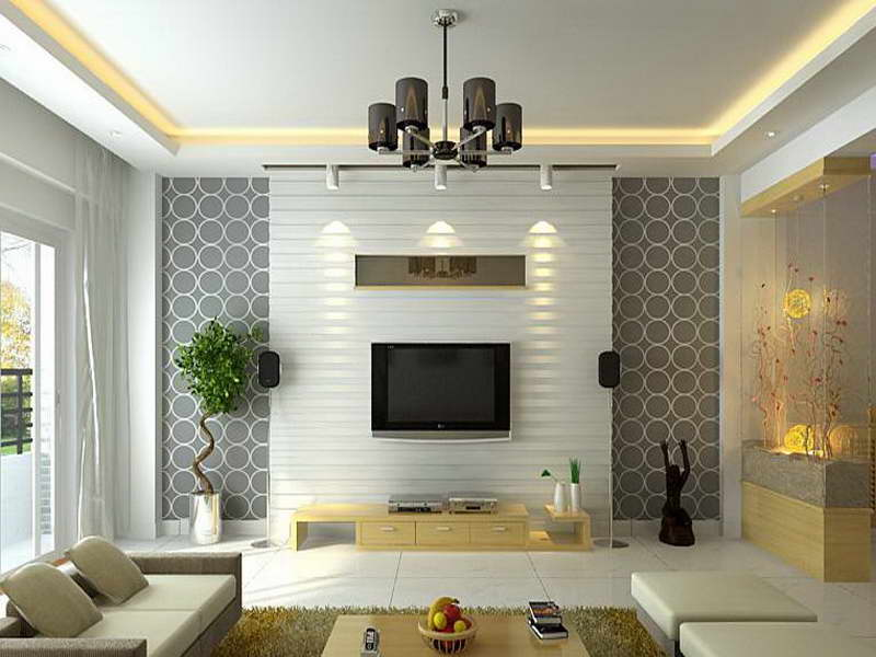 Modern wallpaper living room 16 picture for Home wallpaper designs for living room