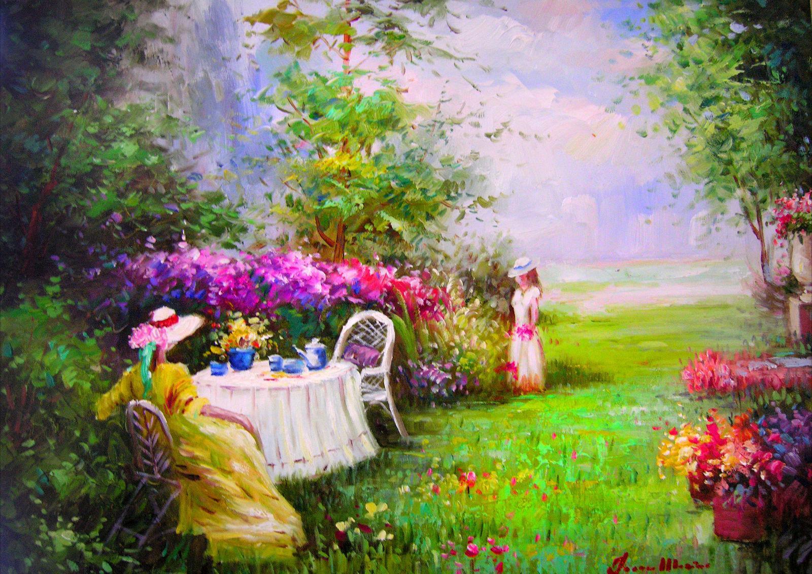 Garden Summer Houses Cheap: Summer Garden Wallpaper 23 Designs