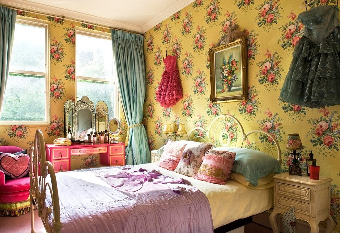 Vintage Bedroom Wallpaper 7 Picture - EnhancedHomes.org